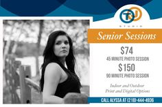 Book your senior photo session at TJ Studio!