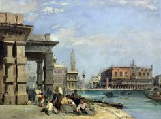 Edward Pritchett: View of St. Mark's Square and Doges Palace  from Santa Maria Della Salute, Venice