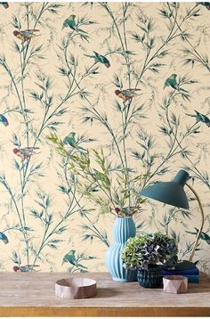 Little Greene 2016 Archive Trails Great Ormond St Parchment. Wallpaper Layers, Print Wallpaper, Wallpaper Ideas, Vintage Bird Wallpaper, Vintage Birds, Botanical Wallpaper, Paint And Paper Library, Little Greene Paint, Luxury Wallpaper