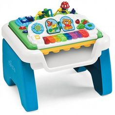 Your little one will love to practice their musical skills with the Chicco Music N Play Table. The Music N Play features a reversible table, which is packed with activities to encourage baby's coordination and musical skills. Great Toy for Children with Special Needs. 12 mos+  Enjoy up to 5% cash back through RebateGiant. http://www.rebategiant.com/store/764/right-start.html