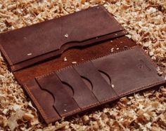 Billetera de cuero hecho a mano cartera para hombre por Yesterwish                                                                                                                                                                                 Más