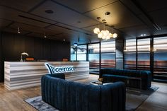 Decor Systems acoustics were used to create a modern space that manages sound effectively, an important element in office design. Modern Spaces, Create, Table, Projects, Room, Inspiration, Furniture, Design, Home Decor