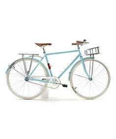 Take a look at this Light Blue Domingo Deluxe Fixed-Gear Bicycle by State Bicycle Co. on #zulily today!