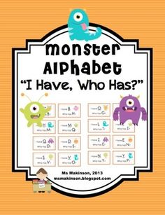 I Have, Who Has? Alphabet. Great for kindergarten! Learn letter names or letter sounds. Available in French.