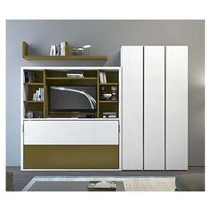 Лаковая шкаф белый призрак - Линейный - CLEVER.IT