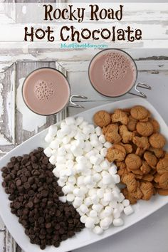 Rocky Road Hot Chocolate Recipe + Snow Paint Sensory Bin