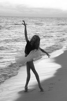 Dancer on beach