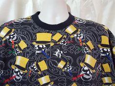 Unisex Russo Spirit T Shirt XL Skulls Wearing Gold Top Hats Smoking Cigars   #RussoSpirit #EmbellishedTee