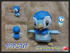 Pokemon - Piplup Ver.3 Free Papercraft Download - http://www.papercraftsquare.com/pokemon-piplup-ver-3-free-papercraft-download.html