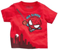 Marvel Spider Man Baby Boys Web Slinger Red T-Shirt Short Sleeve 12 Months nwt #Marvel #Everyday
