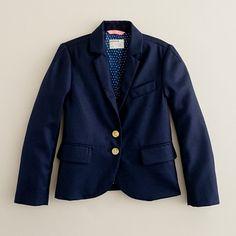 girl blue blazer