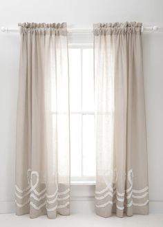 Pine Cone Hill Ruched Linen Curtains: Layla Grace