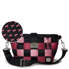 Harvey's Seatbelt Bag.  I love that the company will donate $75 of this $194 bag to Breast Cancer Research!