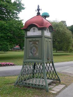 Old school Swedish telephone booth