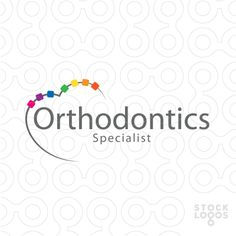 A simple and colorful logo of a tooth that look like a heart with a touch of orthodontics care