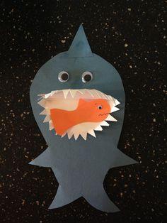 Shark toddler art: paper plate mouth #toddlerart #preschool #art #shark