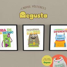 Que dia mais colorido!!!   Em parceria com o @megustapins, a marca que cria os monstrinhos mais fofos da internet, desenhamos uma coleção especial para o Dia das Crianças. :D  Esses são o 'Click!', 'Pé de Feijão' e 'Riso solto'. Três pôsteres que vão encher de cores o quarto da criançada. E pra alegria ficar geral, comprando qualquer pôster da Coleção Especial Megusta no mês das crianças, o monstrinho 'Bogu' vai de carona! Não é o máximo?! :)  Aproveite! www.nacasadajoana.com.br