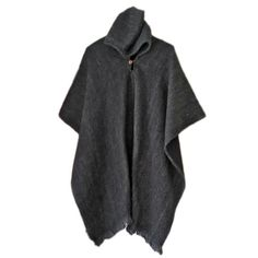 Llama wool unisex mens woman solid colour hooded by SAFairTrade