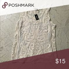 SALE! Lace Tank Lace Tank from Express. Perfect for summer of fall with a jacket or sweater over. Worn a few times. Express Tops Tank Tops