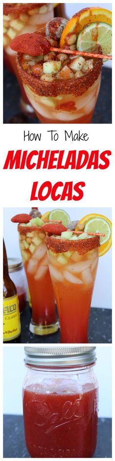 How to Make Micheladas Locas. Mexican Michelada, cinco de mayo drink, summer drink, spicy mexican beer