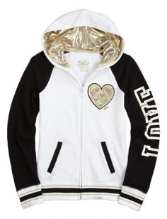 Brand Varsity Jacket gold &white