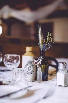 If you're having a vintage style or rustic wedding fill some vintage bottles with wild flowers for a simple yet striking table centerpiece. Floral Wedding, Fall Wedding, Diy Wedding, Rustic Wedding, Wedding Ideas, Rustic Centerpieces, Flower Centerpieces, Centerpiece Wedding, Wheat Wedding