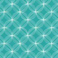 Les Amis: Star Pods in Teal on Flannel