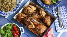 Pomegranate and sumac chicken recipe - BBC Food Middle Eastern Chicken, Molasses Recipes, Diet Recipes, Healthy Recipes, Savoury Recipes, Easy Recipes, Pomegranate Molasses, Chicken Recipes Video, Dressings