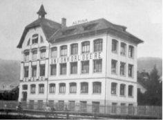 Alpina watch manufacture in the 1920's in Biel, Switzerland.