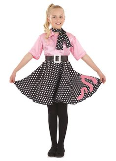 Rock N Roll Girl childrens dress up costume by Fun Shack