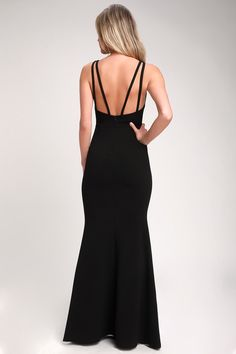 The Lulus Dream About You Black Backless Maxi Dress is what you've been wishing for! Medium-weight knit shapes this lovely backless mermaid maxi dress. Backless Maxi Dresses, Sexy Dresses, Beautiful Dresses, Gala Dresses, Formal Dress Shops, Formal Gowns, Dresses For Teens, Dresses Online, Mermaid Dresses