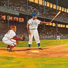 Gibson Takes Aim by Dick Perez Baseball Star, Baseball Players, Baseball Painting, Take Aim, Diamonds In The Sky, Job 1, Ny Yankees, Sports Art, San Francisco Giants