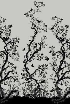 Timorous Beasties Wallcoverings - Birdbranch Hand-Print. so beautiful.