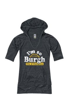 Pittsburgh Local Stuff Shop Womens  I'm So Burgh, City of Champions V-Neck
