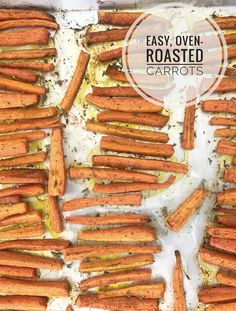 These easy, oven-roasted carrots make a great side and pair perfectly most main dishes. Made with only 2 ingredients - carrots and olive oil, or sprinkle with your favorite seasonings. Recpe & Nutrition Facts at Heather Mangieri Nutrition. Oven Roasted Carrots, Easy Vegetable Side Dishes, Eating Vegetables, Lean Protein, 2 Ingredients, Food Print, Olive Oil, Meal Planning, Main Dishes