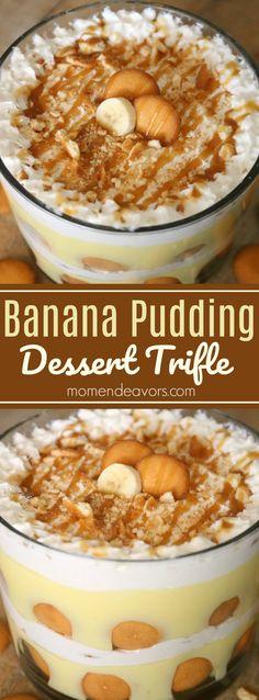 Banana Pudding Trifle Recipe – a delicious no-bake dessert! Banana Pudding Trifle Recipe – a delicious no-bake dessert! Winter Desserts, Desserts For A Crowd, Great Desserts, Delicious Desserts, Banana Pudding Desserts, Trifle Pudding, Banana Recipes, Fudge Recipes, Chef Recipes