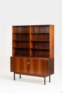 rne Vodder; Rosewood and Mahagony Breakfront for Sibast, 1960s.
