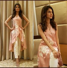 Jennifer Winget Is A Head Turner In This Surreal Kurti-Pant Combo! These Sexy Pictures of Jennifer Winget Will Keep You Up All Night.Photo: Jennifer Winget is the definition of ethereal for an eventfor this Tailer fit designer wear( ・・・ And Ran Kurta Designs, Blouse Designs, Pakistani Dresses, Indian Dresses, Indian Outfits, Pakistani Clothing, Stylish Dresses, Casual Dresses, Fashion Dresses