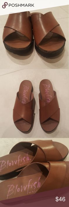 Blowfish slide sandals Excellent condition.  Comfortable leather sandals. Blowfish Shoes Sandals