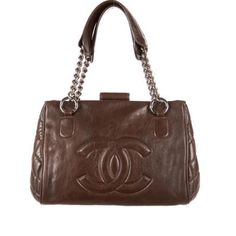 Authentic Chanel Chocolate quilted side handbag Chanel perfect day bag, In good pre owned condition. The leather is Choclate brown with silver tone hardware. 100 percent Authentic! CHANEL Bags