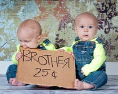 It's not always easy being a twin… | 34 Beautiful And Creative Photography Ideas For Twins