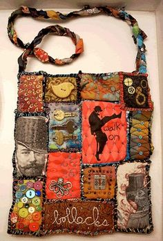 Teesha Moore inspired bag. Great way to use up your stash of random cute things, if you're a hoarder like me hehe.