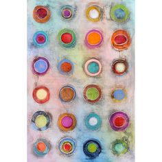 "Original Abstract Art Painting 36"" x 24"" Contemporary Art ""Candy... ❤ liked on Polyvore featuring home, home decor and wall art"