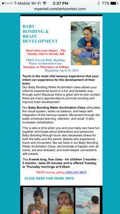 Free baby class at Charlotte Aquatics