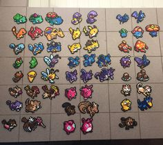 My girlfriend and i started doing Perler beads with the original 151 Pokemon. This is our progress so far.