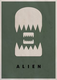 I like how the creator of this poster took a minimalist approach and yet managed to give a fairly accurate and even somewhat comical depiction of the film's titular Aliens. I also like how the colour of the teeth contrast with the background, however I feel a lighter colour should have been used for the title as the background itself is quite dark.