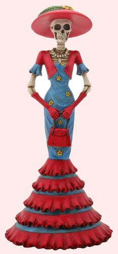 Day of the Dead Gifts - Collectible Day of the Dead Lady Isabela Desktop Figurine $23.95