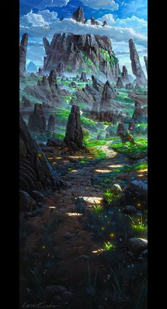 Zelda Wii u fanart by UnidColor path road horse mountain rocks landscape location environment architecture | Create your own roleplaying game material w/ RPG Bard: www.rpgbard.com | Writing inspiration for Dungeons and Dragons DND D&D Pathfinder PFRPG Warhammer 40k Star Wars Shadowrun Call of Cthulhu Lord of the Rings LoTR + d20 fantasy science fiction scifi horror design | Not Trusty Sword art: click artwork for source