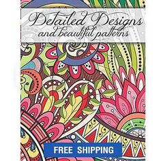 Mandala-Designs-Coloring-Books-For-Adults-Anti-Stress-Relief-Art-Therapy-Fun-New