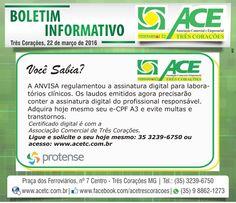 Folha do Sul - Blog do Paulão no ar desde 15/4/2012: TRÊS CORAÇÕES: BOLETIM ACE - CERTIFICADO DIGITAL